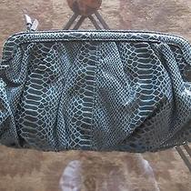 h&m Snakeskin-Like Clutch Green New Without Tags Photo