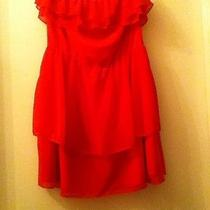 h&m Strapless Red Dress Size 4 Photo