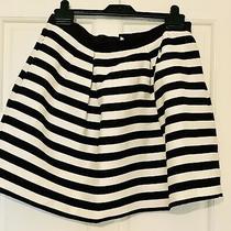 h&m Striped Black and White Skirt Tulip Size M 12 Photo