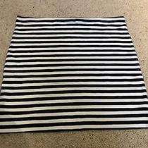 h&m Striped Cotton Skirt M Photo
