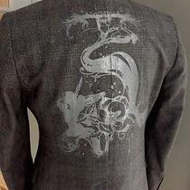 h&m/sweden Grey Plaid Sport Coat Jacket Blazer Design Back Mens36 Photo