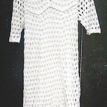 h&m Sweden Hand Crochet Dress Size 6m 100% Stretch Cotton Ivory Photo