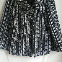 h&m Swing Jacket. Black and White Size M Uk 12 Photo