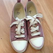 h&m Trendy Leather Sneakers Pale Pink Photo