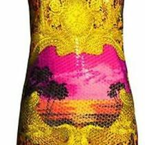 h&m Versace Dress Scarf Print Sequin Embellished Leopard Rare Uk 10 Eur 36 Us 6 Photo