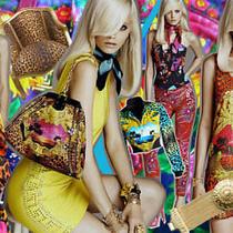 h&m Versace Dress Scarf Print Sequin Embellished Leopard Rare Uk 12 Eur 38 Us 8 Photo