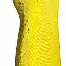 h&m Versace Dress Yellow Silk Gold Silver Stud Emellished Uk 14 Eur 40 Us 10 Photo