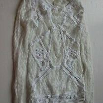 H & M White Clear Size Xs Long Beautiful Long Sleeve Top Photo