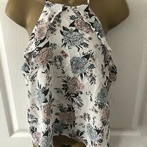 h&m White Floral Flower Patterned Cami Vest Top Size 12 Photo