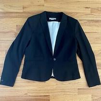 h&m Womens Black Blazer Jacket Size 14 Excellent Condition Photo