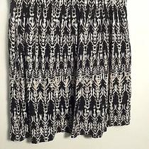 h&m Women's Flaired Black and White Skirt- Sz S Photo