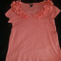 h&m Women's Floral Pink Blouse Top Size Large  Photo