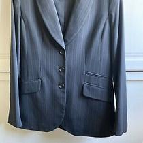 h&m Womens Black Striped Fitted Blazer Uk Size 10 Eur 38 Photo