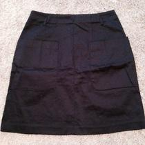 h&m Womens Medium 10 Navy Blue Pocket Pencil Skirt Mid Thigh  Photo