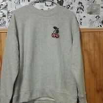 h&m Womens Sweater Bedazzled Embroidered Cherry Size L Photo