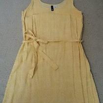 h&m Yellow White Dress Divided Photo