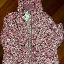 h&m Youth Girls Zip Up Lightweight Hoodie Wind Breaker Jacketfloral Size 10 Nwt Photo