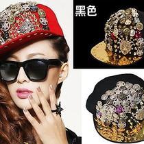 H1036 Punk Goth Lion Head Multi-Element Spike Studs Rivet Hiphop Unisex Hat Cap Photo