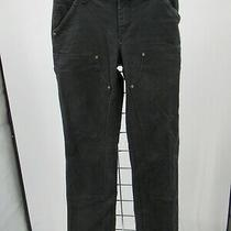 H4460 Women Carhartt Denim Casual Work Jeans Size 4 Photo