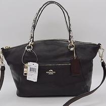 H661 Coach Prairie Satchel in Colorblock Exotic Embossed Leather 295 Photo