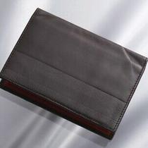 H6616m Authentic Bally Premium Genuine Leather Business & Credit Card Case Photo