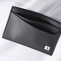 H6631m Bally B-Logo Genuine Leather Business & Credit Card Case Good Photo