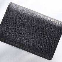 H6822m Bvlgari Logo Mark Genuine Leather Business & Credit Card Case Photo