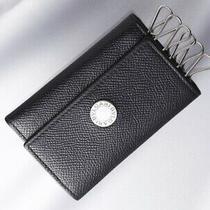 H6851m Authentic Bvlgari Classico Genuine Leather 6-Ring Key Case Defect Photo