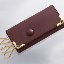 H7733e Authentic Must De Cartier Genuine Leather 4-Ring Key Case Photo