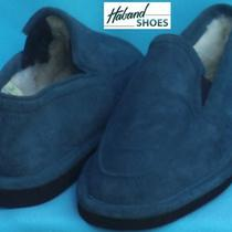 Haband  Blue Calfskin Suede Leather Slippers - Faux Fleece Linings   8  M Photo