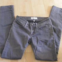 Habitual Believe Gray Graphite Low Straight Skinny Jeans Size 25 Photo