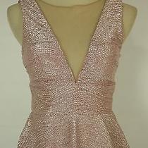 Hailey Logan 90 Blush Evening Prom Formal Cruise Short Cocktail Dress Size M Photo