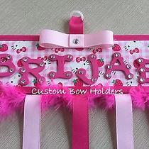 Hair Bow Holder - Hello Kitty - Pink & Hot Pink Any Name Photo
