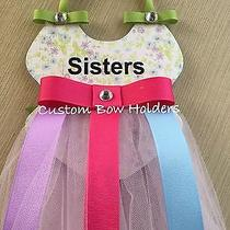 Hair Bow Holder - Sisters Ballerina Tutu Personalized With Any Name Photo