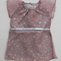 Halabaloo Toddler Girls Party Blush Pink Silver Polka Dot Dress Size 4t  Photo