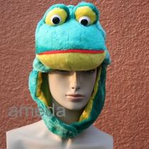 Halloween Frog Prince Costume Hat Mask Adult Kids Birthday Party Fancy Cap Photo