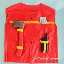 Halloween Kids Fireman Firefighter 4pc Costume Birthday Party Fancy 3-6 Z082 Photo