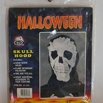 Halloween  Skull Hood With Eye Holes  by Betta Products Inc. New Sealed Photo