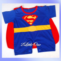 Halloween Superman Hero Baby Boy Fancy Party Costumes Outfit Size 3-6m Fc013 Photo