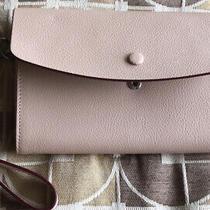 Halogen Women's Leather Clutch Bag -Blush Photo
