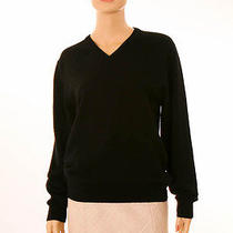Halston Black 100% Cashmere Loose Fit v-Neck Sweater S Photo
