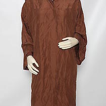 Halston Chocolate Brown Shirt Dress Shirtdress Sz 42 Us 8 Nwt 1695 Photo