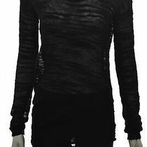 Halston Heritage Womens Sweater Size Xs Black Crew Neck  Wool Top Photo