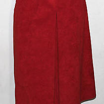 Halston Vintage Ultrasuede Holiday Red Skirt Photo