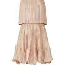 Halston Women's Dress Blush Pink Size 8 Sheath Blouson Pleated 395- 623 Photo