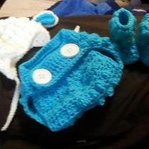 Hand Crafted Crochet Lamb Outfit Photo
