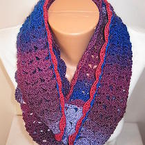 Hand Crochet Eternity Infinity Scarf   the Color Is Arctic Air Photo