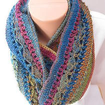 Hand Crochet Eternity Infinity Scarf     the Color Is Xylophone Photo