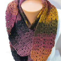 Hand Crocheted Eternity Infinity Scarf  Bernat Mosaic the Color Is Medusa Photo