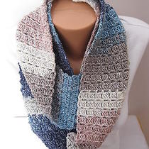 Hand Crocheted Eternity Infinity Scarf the Color Is Glacier  Very Pretty  Photo